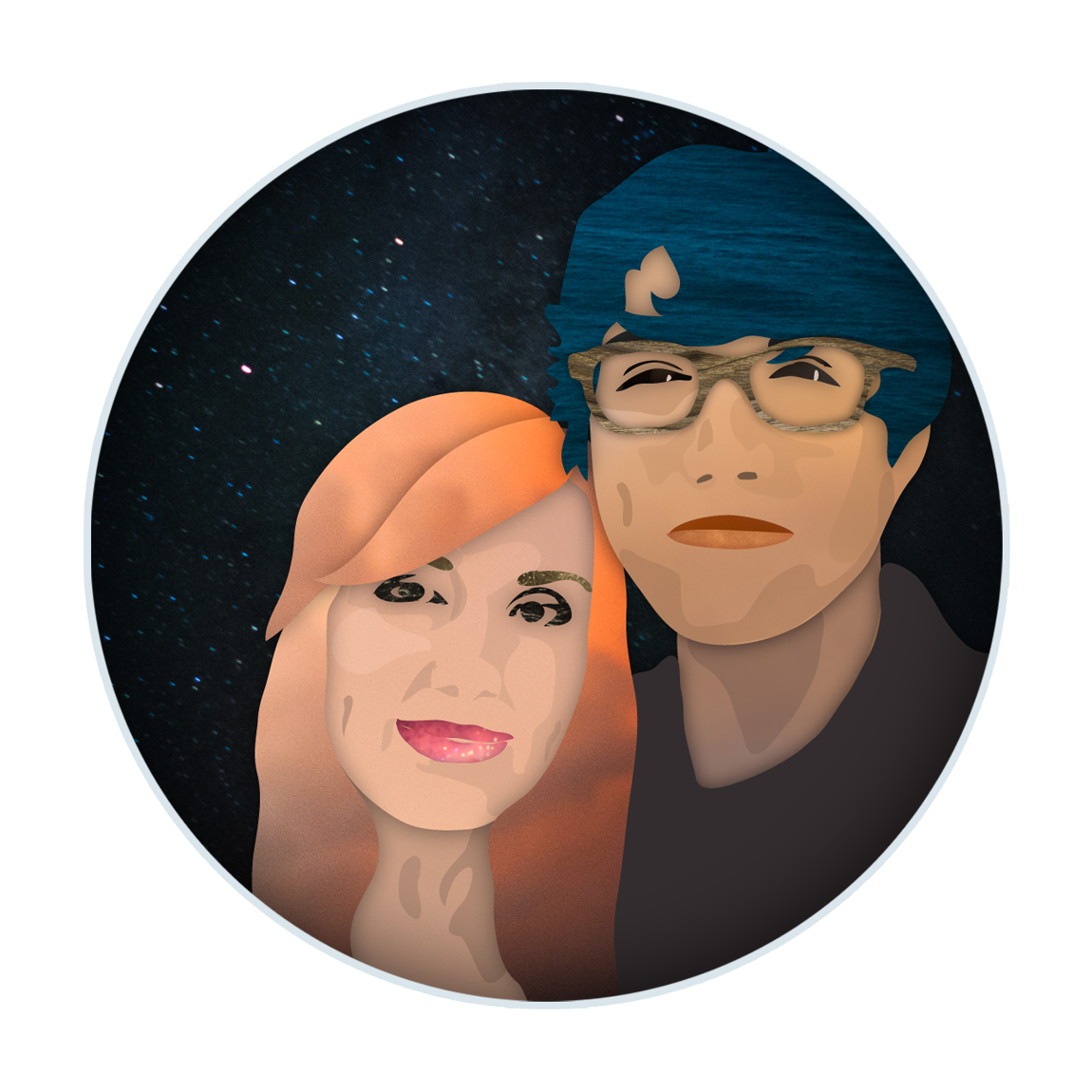 Chapman and Robin cutout portrait