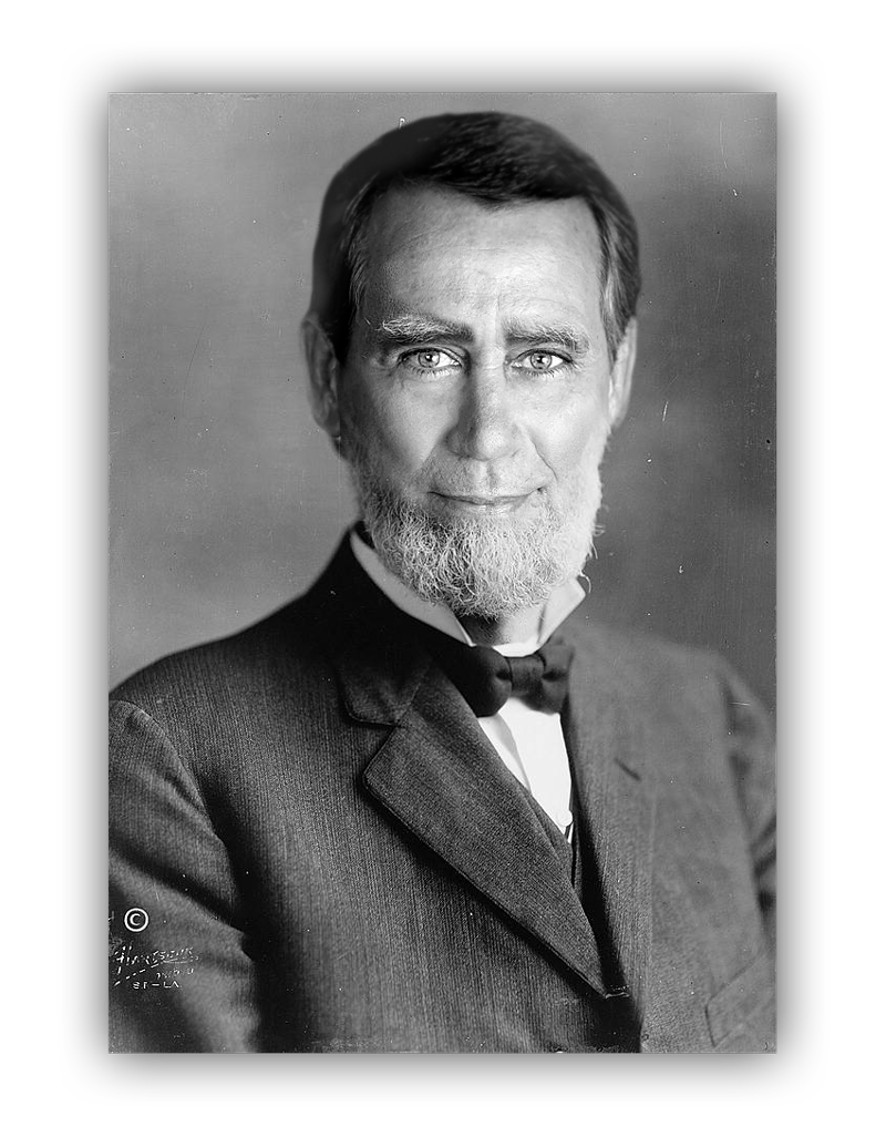 John Boehner's face superimposed onto a portrait of Joseph G. Cannon