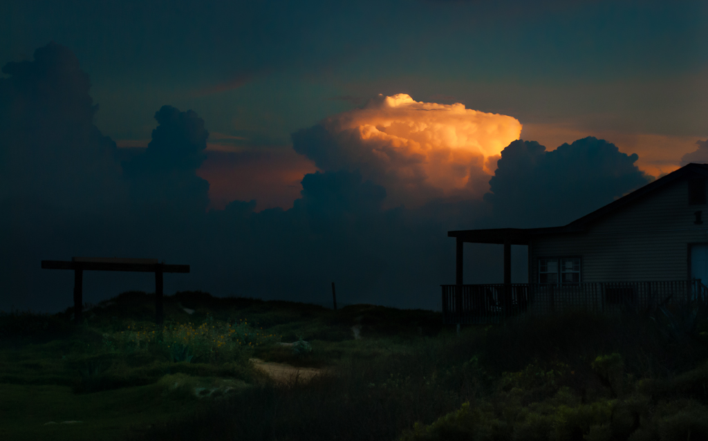 Port Aransas thunderclouds